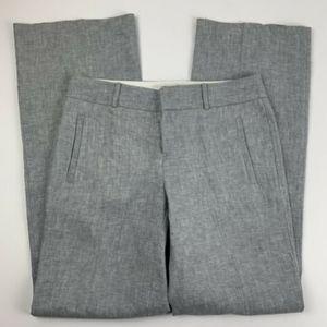 Banana Rep Womens 6 Tall Gray Pants Linen Martin